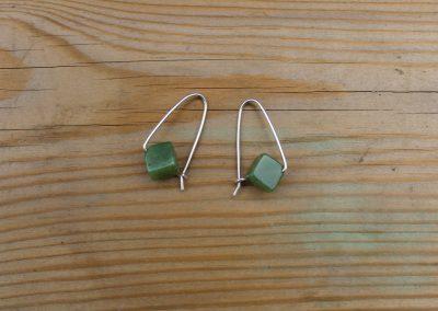 Boucles d'oreilles avec perle de Jade