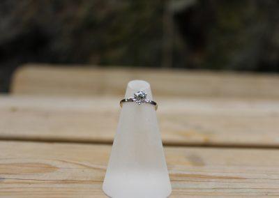 Solitaire en or et diamant