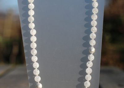 Sautoir en perles de cristal de roche