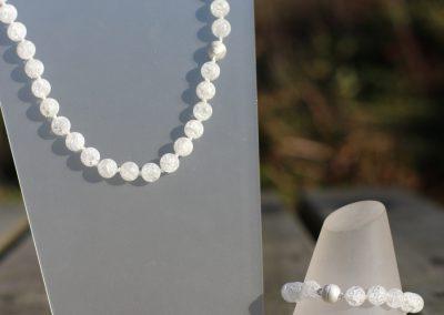 Collier et bracelet en cristal de roche