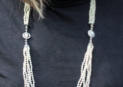 Collier en argent et perles d'eau douce